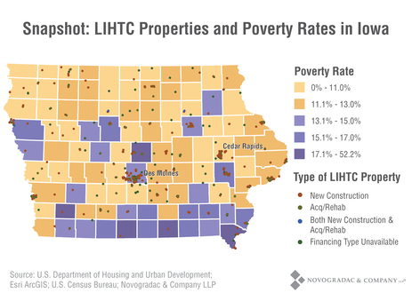 Blog Graph State Profile Iowa - LIHTC Properties and Poverty
