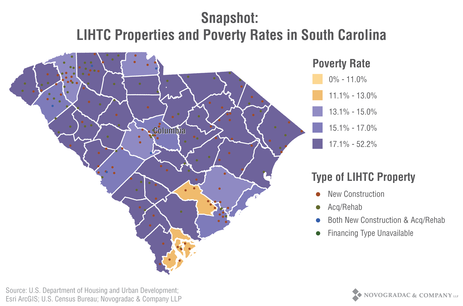 Blog Graph Snapshot: LIHTC Properties and Poverty Rates in South Carolina