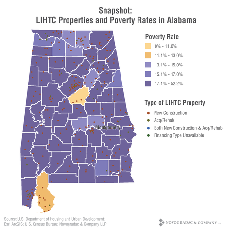 Blog Graph Snapshot: LIHTC Properties and Poverty Rates in Alabama