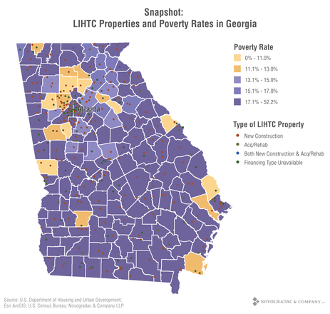 Blog Graph Snapshot: LIHTC Properties and Poverty Rates in Georgia