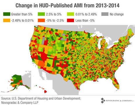 Blog Map Change in HUD Published AMI