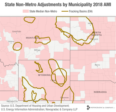 Blog Map State Non-Metro Adjustments by Municipality 2018 AMI