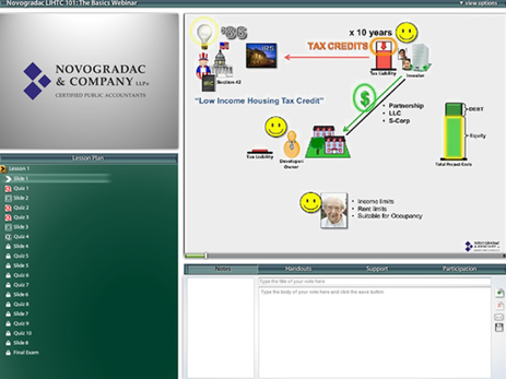 on-demand course screenshot of course interface