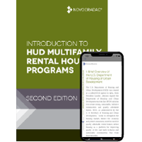 Booklet Cover - Introduction to HUD Multifamily Housing Second Edition Premium