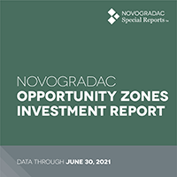 Report Cover - Opportunity Zones Investment Report Aug 2021