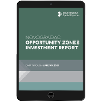 Report Cover - Opportunity Zones Investment Report App Aug 2021