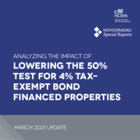 Report Cover - Analyzing the Impact of Lowering the 50 Percent Test for 4 Percent Tax-Exempt Bond-Financed Properties – March 2021 Update