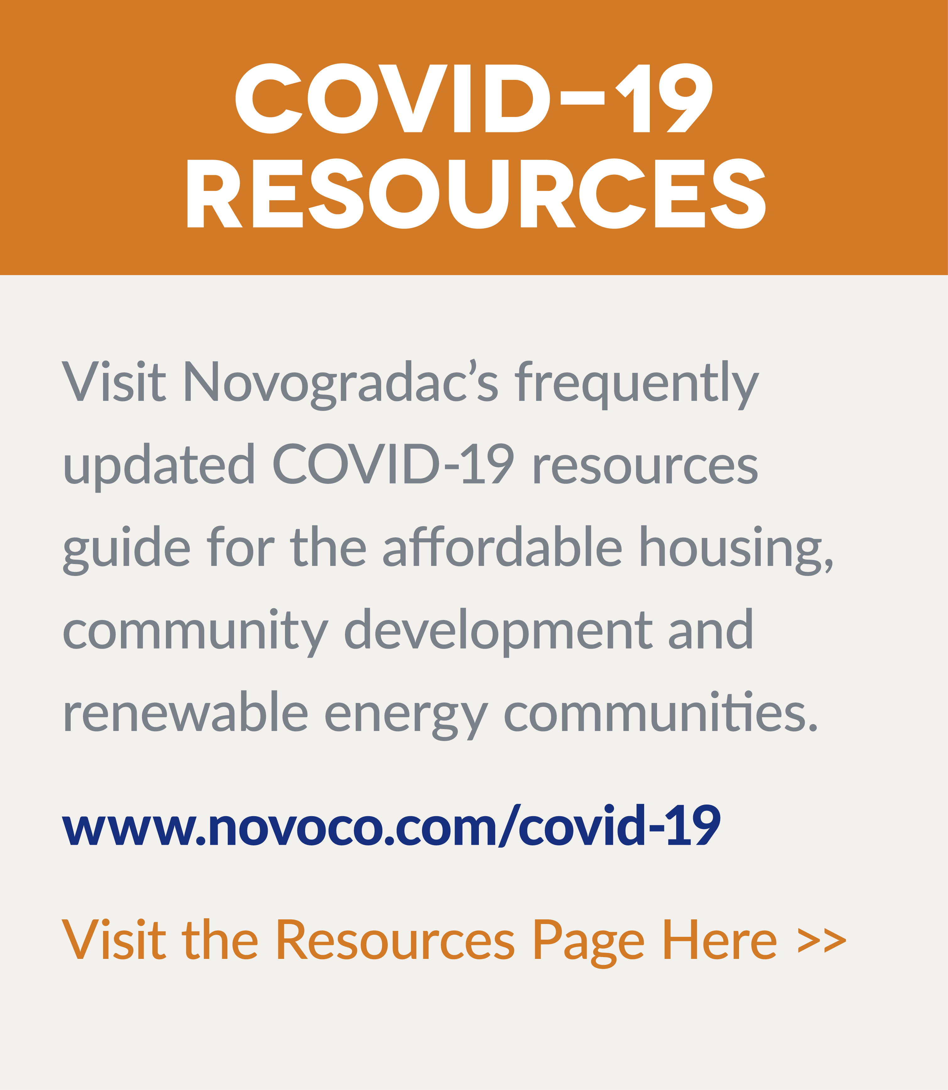 Novogradac's Response to the COVID-19 Pandemic