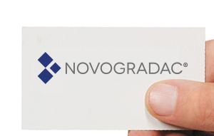 Novogradac logo on business card
